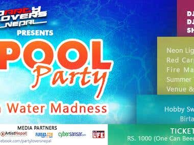 Pool Party Ticket Design