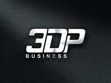 3DP Business ( text Logo Design )