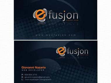 Efusjon Business Cards