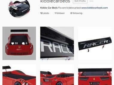 Instagram Ads for Kiddie Car Bed