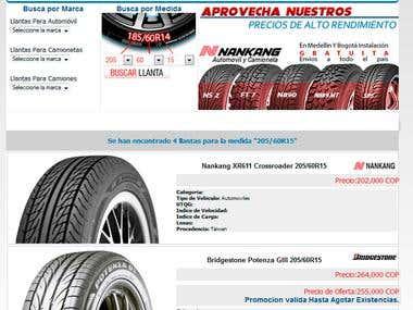 Motorllantas.com -  Tires Store (E-commerce)