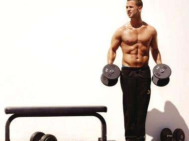 Men's fitness - article writing