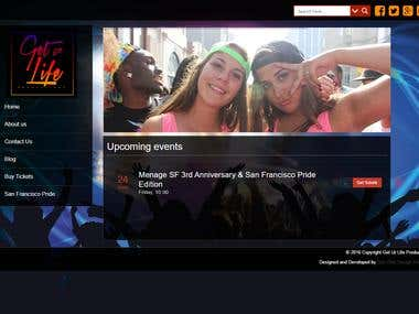Get Ur Life Productions | Event Production Website
