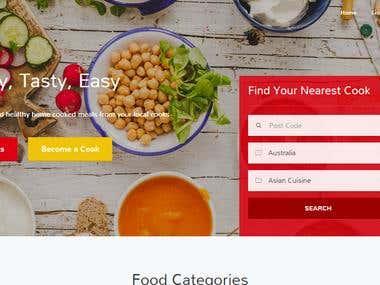 2nd cook : Food website