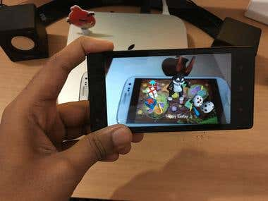 Augmented Reality : video of this project in Next Block