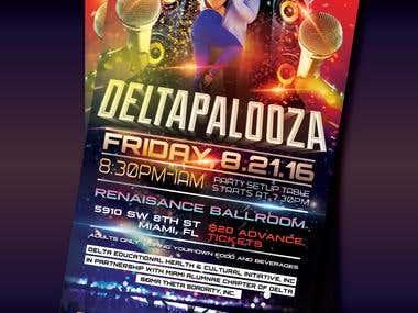 Deltapalooza Flyer