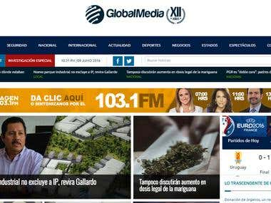 GlobalMedia News Website