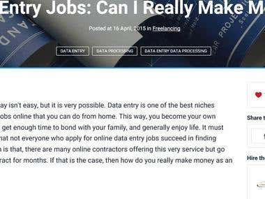 Data Entry Jobs: Can I Really Make Money Online?