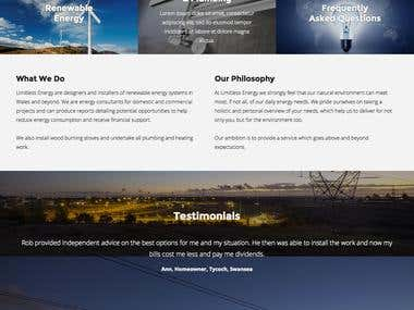 Website re-design for energy business