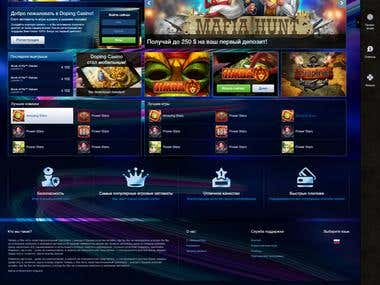 Web site for online games like casino and slots