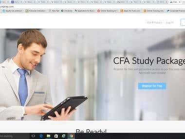 CFA Level 1 test bank creation