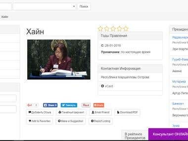 Портал / Website dedicated to presidents ratings.