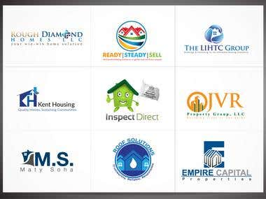 Real Estate-Realty-Construction Logos