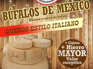 Diseño de cartel queso de búfala