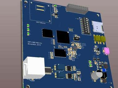 Wifi OBD Based on iMX28--Altium 3D View