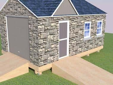 Simple shed design for Freelancer Project