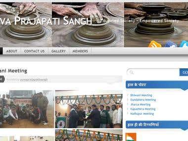 Yuva Prajapati Sangh Wordpress Website