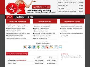 web design exo webhosting