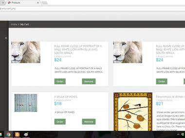 An art website selling art items