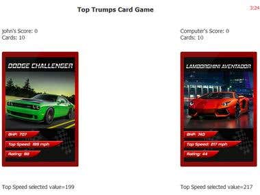 Top Trumps game