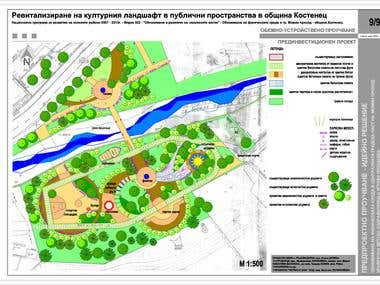 Landscaping for the city of Kostenec