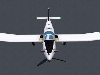 3D modeling of an Aeroplane