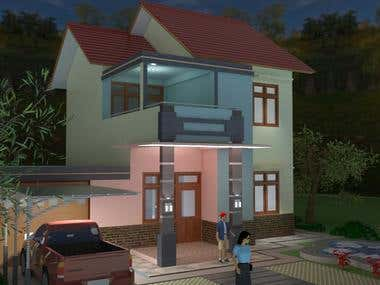 3D Villa done by Sketch up 2015