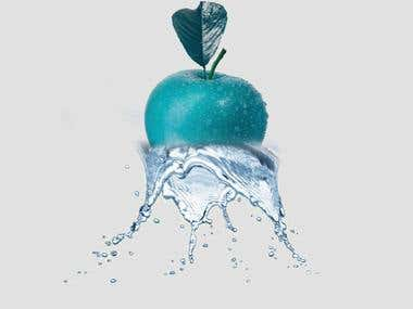 Water dropping from Apple