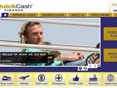 Quick Cash NZ - Custom PSD to Joomla Site - Warp Framework