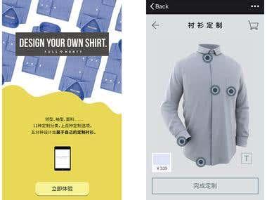 Custom Shirt Device Interface