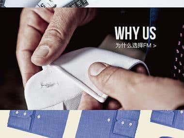 Mens wear Website Design