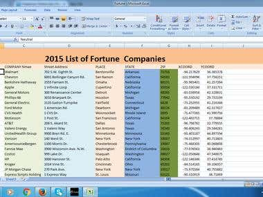2015 List of Fortune  Companies