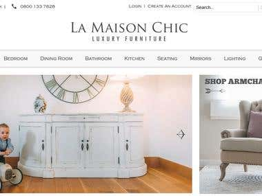 La-maison-chic- ECommerce Website