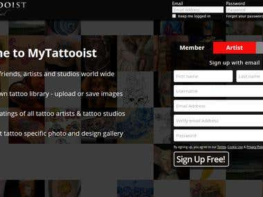 MyTattooist- Social Networking Website