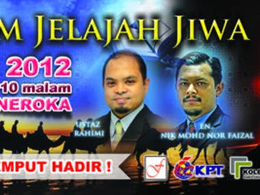 "Banner ""Malam Jelajah Jiwa"" 10 x 4 feet"