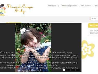 E-Commerce Flores do Campo Baby