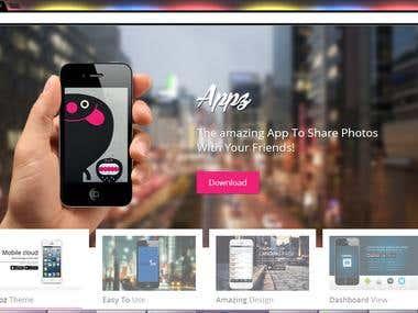 Mobile App Show Case Website