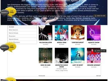 Wordpress Developed Another Website - JamEntertainers