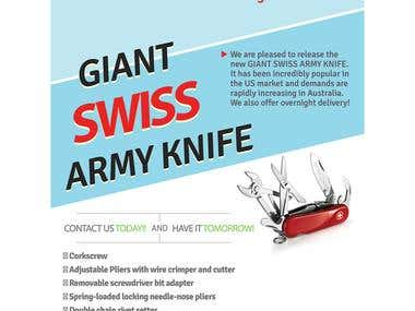 Flyer for Swiss Army Knife