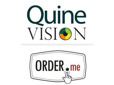 Logos for QuineVision and Order.me