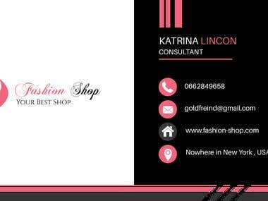 Fashion business card