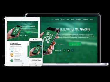 Riazi Landing Page Template
