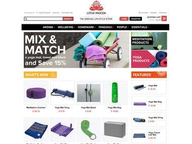 Ecommerce Website Design for Red Lotus Pagoda