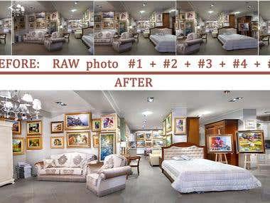 Photo Processing. Interior photography