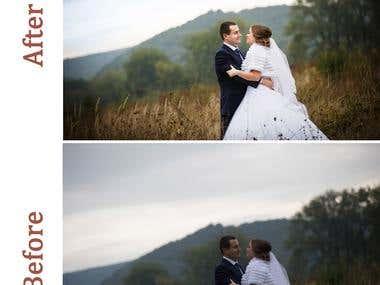 Photo Processing. Wedding photography