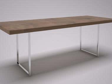 Folding table design.