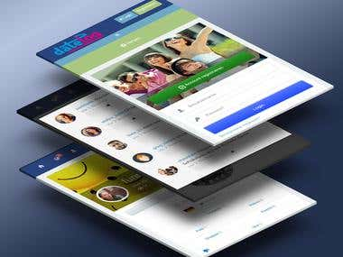 Datelog Social Network Android App.