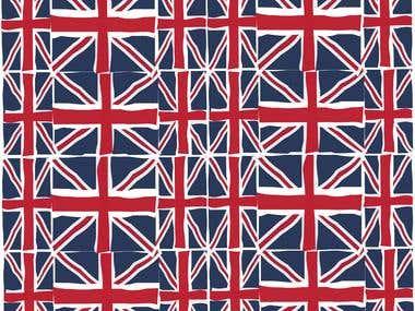 Union Jack pattern.
