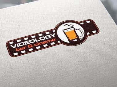 Logo for a video pub