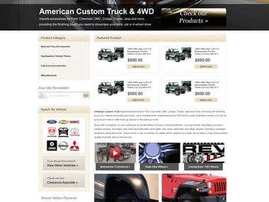 Custom Truck auto parts online store (Prestashop)